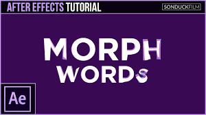 tutorial youtube word after effects tutorial morph words into other words motion