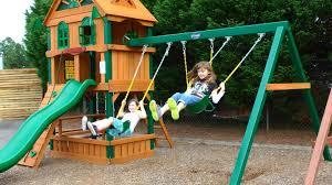 exterior cute gorilla swing sets for outdoor children playground