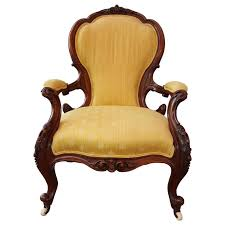 19th century hand carved victorian parlor chair