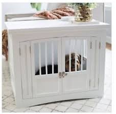 Dog Crate Furniture Bench Dog Crate End Table Ebay