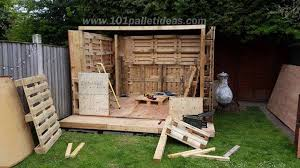 How To Build A Wooden Shed From Scratch by Tiny Pallet House Or Cabin Diy Tutorial