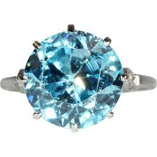 blue zircon rings images Vintage blue zircon and diamond ring in platinum c 1925 jpg
