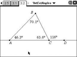 Interior Exterior Angles Classroom Activities Interior U0026amp Exterior Angles Of A Triangle