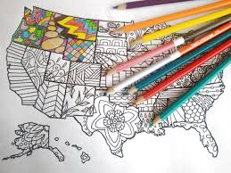 united states america map kids coloring etsy sales book