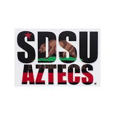 sdsu alumni license plate shopaztecs sdsu aztecs california flag decal