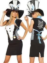 Mad Hatter Halloween Costumes Girls Madhatter Halloween Costumes Matching Mad Hatter Hats