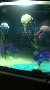 jellyfish fish tank ornament swimmimg glowing decorations for sale