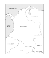 India Blank Outline Map by Geography Blog Colombia Outline Maps