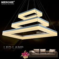 aliexpress com buy led pendant light modern rectangle black