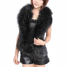 fashion elegant winter faux fur vest women leather vest coat warm