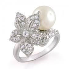 the pearls wedding band flower design pearl wedding rings wedding rings polyvore