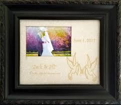personalized scoop personalized wedding photo frame vintage black scoop w pearlized