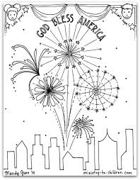 free pdf july 4th coloring god bless america bible