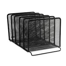Desk Folder Organizer Rolodex Mesh Collection Stacking Sorter 5 Section
