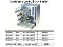 kitchen basket chrome u0026 stainless steel furniture hardware