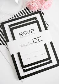 Best Font For Invitation Card Best Album Of Black And White Striped Wedding Invitations