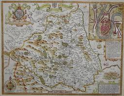 Durham England Map by Durham The Antique Map Shop Ltd Bath England