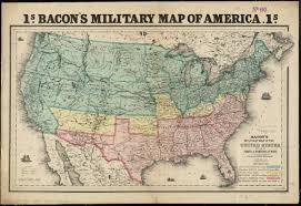 Map Of Usa In 1861 by Bacon U0027s Military Map Of The United States Shewing The Forts