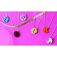 monogram necklace acrylic acrylic mini monogram necklace moon and lola initial obsession