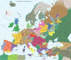 Map Of Europe 1500 by Andrew Andersen