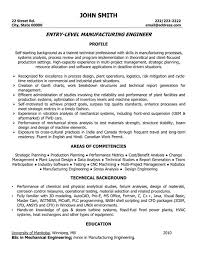 mechanical engineering resume engineer resume sle template