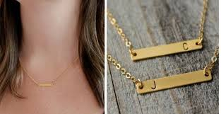 bar gold necklace images Gold bar initial necklace jane jpg