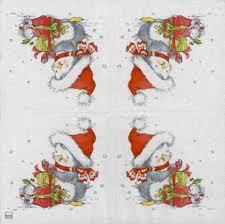 decoupage paper napkins of penguin and mouse chiarotino