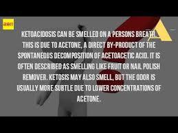 what do ketone bodies smell like youtube