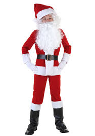 santa claus suit child santa costume