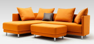 canapé d angle orange canapé d angle modulable contemporain en cuir onda by
