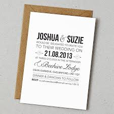 wedding invite ideas chic basic wedding invitations rustic style wedding invitation