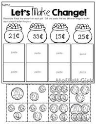 coins making change this is a great activity for 2nd grade this