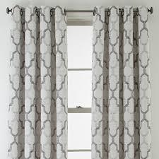 studio casey jacquard grommet top curtain panel jcpenney