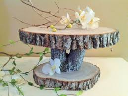 wood tree wedding cake stand wooden cake stands engraved custom