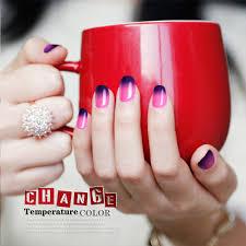 gel len temperature change nail color gel nail polish lacquer long