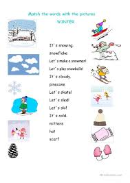 Esl Homonyms Worksheet 98 Free Esl Winter Worksheets