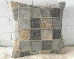 Metallic Cowhide Pillow Cowhide Pillow Etsy