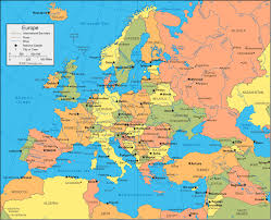 Map Of Germany And Surrounding Countries by Europe Map And Satellite Image