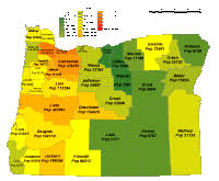 oregon county map editable oregon county populations map illustrator pdf