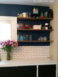 Kitchen Upper Cabinets Easy Diy Kitchen Update My Craftily Ever After