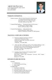 Resume Setup Examples by Resume Format For College Student Resume Examples Graduates