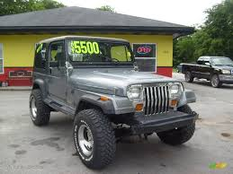 jeep wrangler grey 1991 dark silver metallic jeep wrangler 4x4 11480541 photo 7