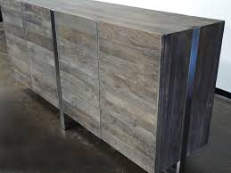 rustic industrial sideboard wood and stainless steel buffets
