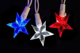 American Flag Christmas Lights Set Of 30 Led Red White U0026 Blue 4th Of July Patriotic Star Lights