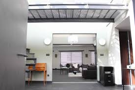 industrial style loft industrial style loft of concrete stone and metal with mezzanine