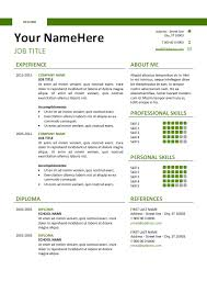 Free Traditional Resume Templates Free Clean And Simple Resume Template For Word Docx Green