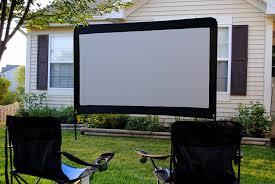 backyard projector screens portable home outdoor decoration