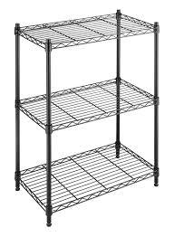 Metal Utility Shelves by Amazon Com Whitmor Adjustable 3 Tier Shelving Home U0026 Kitchen