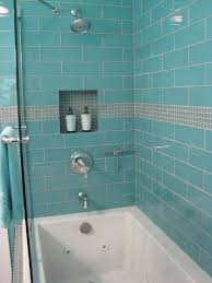 Subway Tile Shower Walls Octagon by Aqua Glass 4