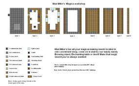 mad mikes magica shop minecraft floorplan by coltcoyote deviantart